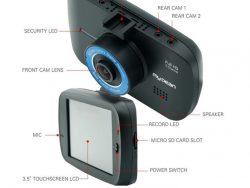 מצלמה לרכב עם 3 עדשות MyDean MK3